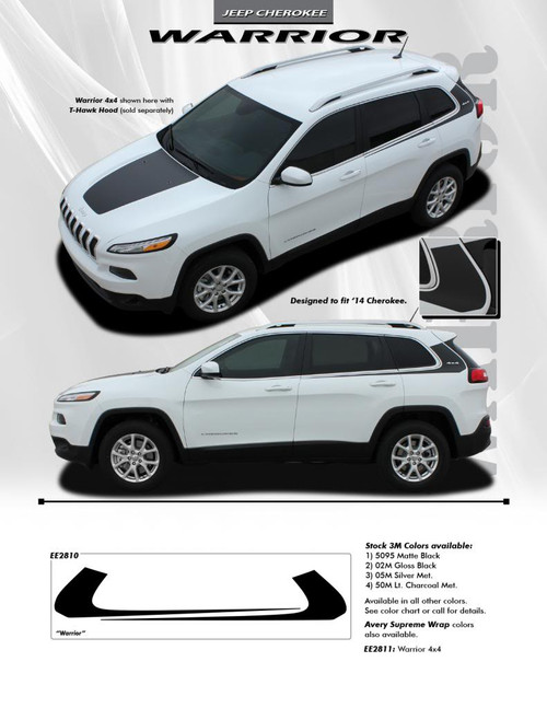 flyer for 2018 Jeep Cherokee Body Graphics WARRIOR 2014-2021