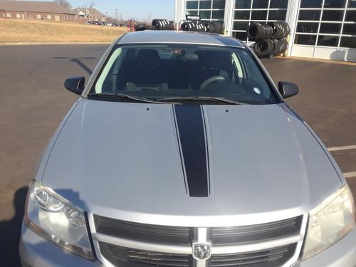 front of Hood & Sides Dodge Avenger Stripes AVENGED 2008-2014