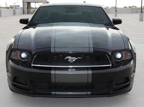 front view BEST! 2013-2014 Ford Mustang Center Stripe Kit VENOM KIT