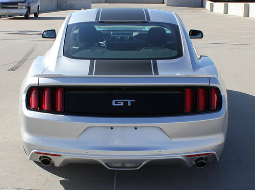 rear view Ford Mustang Wide Center Decals MEDIAN 2015 2016 2017