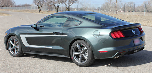 side view 2015 Mustang with Racing Stripes REVERSE 2015 2016 2017