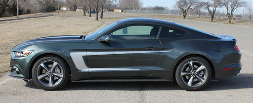 profile 2015 Mustang with Racing Stripes REVERSE 2015 2016 2017