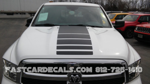 front view of white Dodge Power Wagon Stripes Ram 1500 Truck POWER 2009-2019