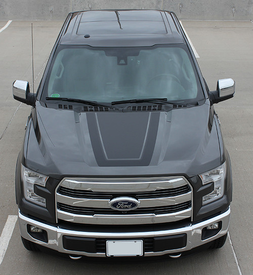 front gray 2017 F 150 Hood & Side Graphics QUAKE 2009-2020