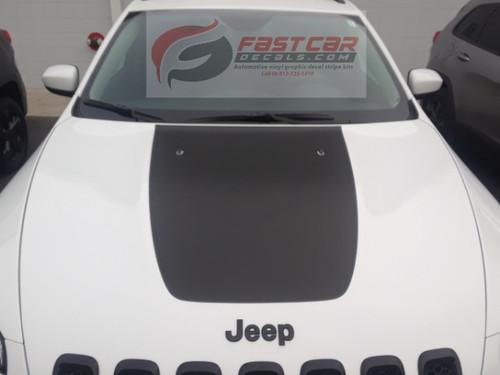 front of 2019 Jeep Cherokee Hood Decals T-HAWK HOOD 2014-2021