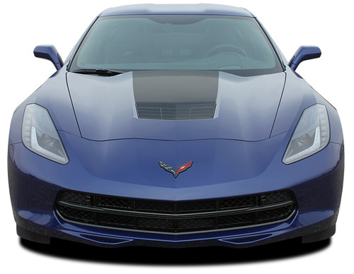 front view 2017 Chevy Corvette Hood Stripes HOOD 2014-2018 2019