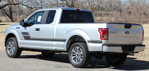 rear angle of 2019 Ford F150 Graphics ELIMINATOR 2015-2017 2018 2019 2020 2021