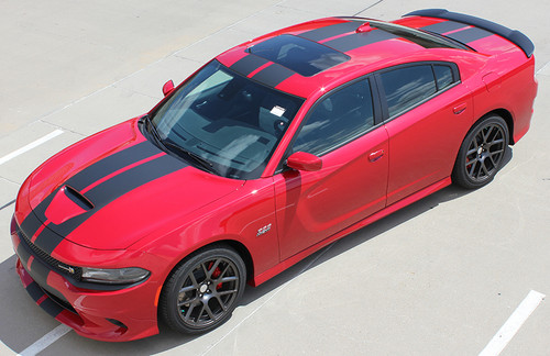 side high view 2020 Dodge Charger R/T Racing Stripes N CHARGE RALLY 15 2015-2021