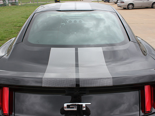 rear view 2017 Ford Mustang FADED RALLY Racing Stripes 2015-2016-2017