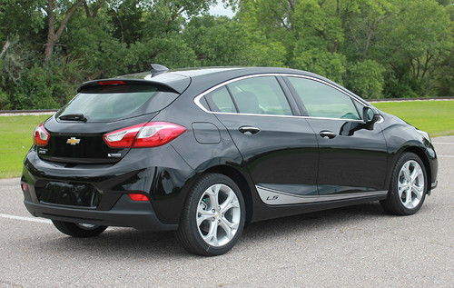 side view of 2018 Chevy Cruze Side Door Stripes SPAN ROCKER 2016-2019
