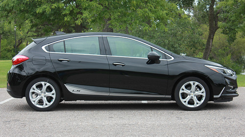 profile of 2018 Chevy Cruze Side Door Stripes SPAN ROCKER 2016-2019