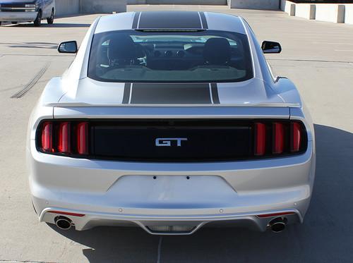 rear od silver Center Stripes for 2017 Ford Mustang MEDIAN 2015 2016 2017