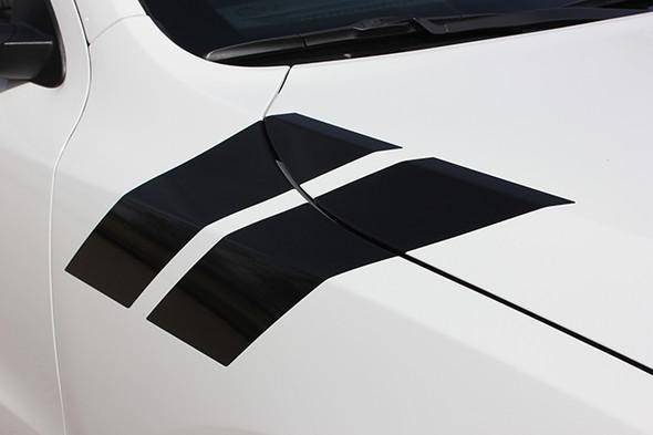 fender close up of RT, GT, SRT Dodge Durango Fender Stripes DOUBLE BAR 2011-2021