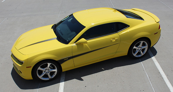 top view Chevy Camaro Hood and Side Stripes 2009-2015 SWITCHBLADE