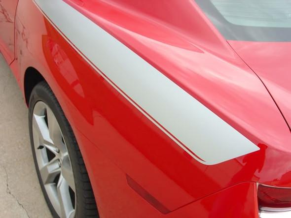 close up quarter Chevy Camaro Upper Body Line Graphics LEGACY 3M  2009-2015
