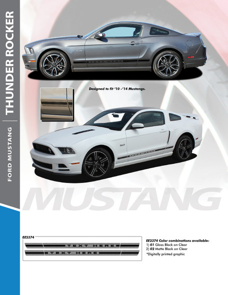 Flyer for 2014 Ford Mustang Decals THUNDER ROCKER 2010-2014 Digital Print