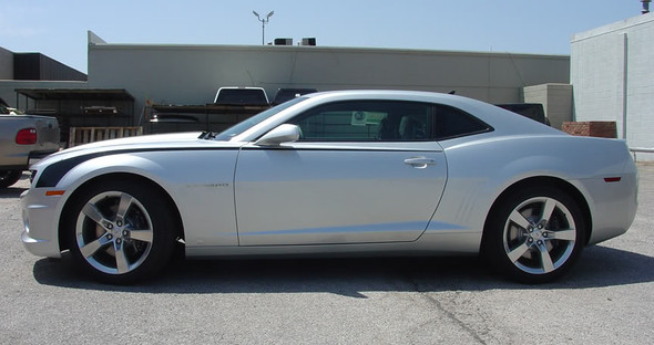 profile of silver 2015 Chevy Camaro Stickers THROWBACK 2009-2011 2012 2013 2014 2015