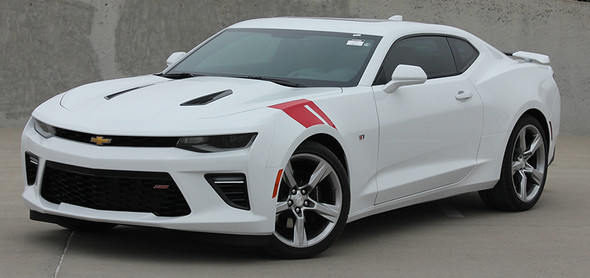 front of 2017 Chevy Camaro Stripes and Decals HASH MARKS 2016-2018