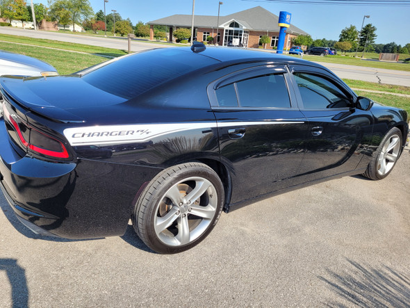 side of black 2018 Dodge Charger Decals 15 RECHARGE 2015-2021