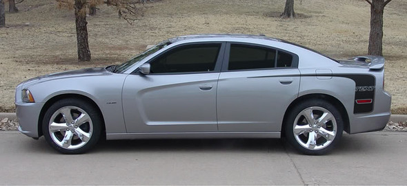 side view of 2014 Dodge Charger Hockey Stripes HOCKEY SERIES 2011-2013 2014