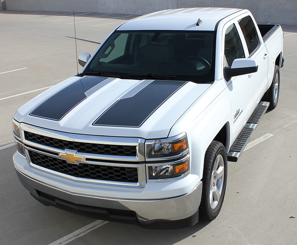 front angle of 2014 Silverado Rally Stripes 1500 PLUS RALLY PACKAGE 2014 2015