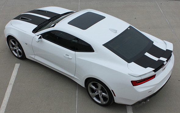 rear angle of Camaro Race Stripes CAM SPORT Package 2016 2017 2018