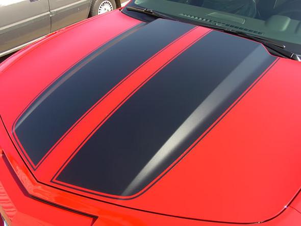 hood view of 2013 Chevy Camaro Rally Stripes R-SPORT RACING 2009-2015