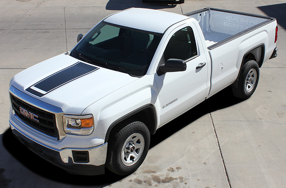 front angle of 2017 GMC Sierra Decal Kits MIDWAY 2014 2015 2016 2017 2018