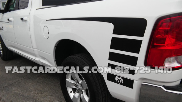 close up of white 2018 Dodge Ram Power Wagon Decals POWER TRUCK 2009-2017 2018