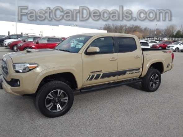 driver side of 2019 TRD 4x4 Toyota Tacoma Side Graphics CORE 2016-2020