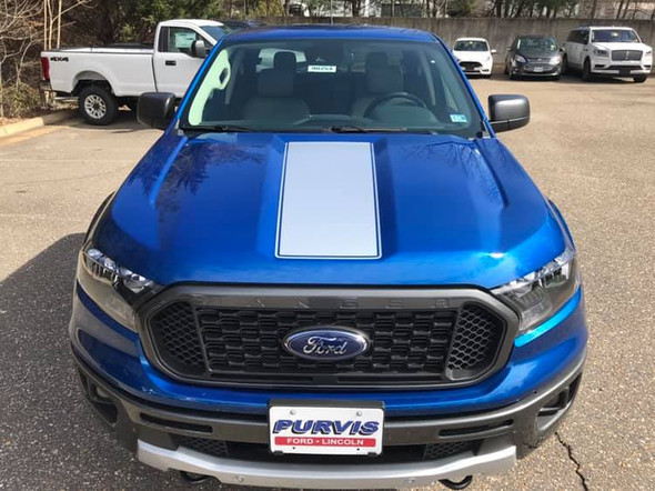 hood of blue The ALL NEW! Ford Ranger VIM Hood Stripes 2019 2020 2021