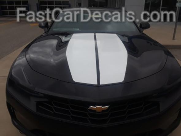 front of black Racing Stripes Camaro REV SPORT Package 2019-2020