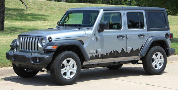 side of Jeep Wrangler Sport, Sahara or Rubicon Stripes SCAPE KIT 2018-2021