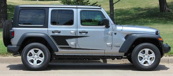 side of 2020 Jeep Wrangler Side Stripes ADVANCE SIDE KIT 2018-2020 2021