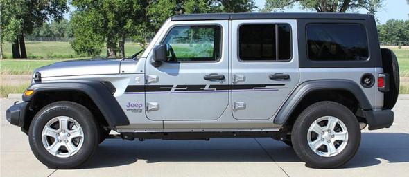 side of 2019 Jeep Wrangler Side Graphics MOJAVE SIDE KIT 2018-2020 2021