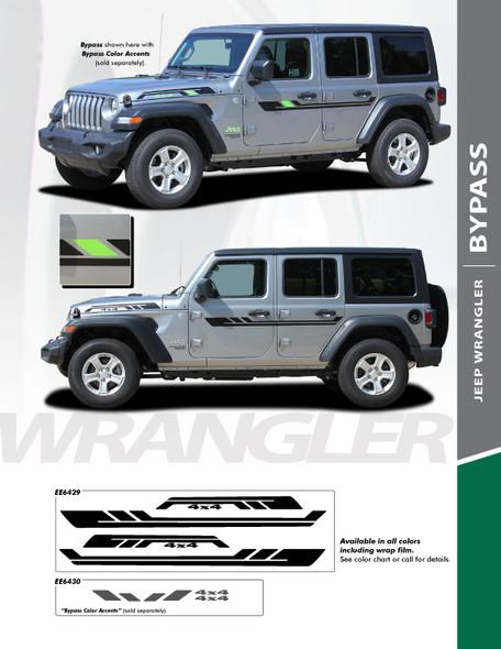 flyer for 2019 Jeep Wrangler Stripes BYPASS SIDE KIT 2018 2019 2020 2021