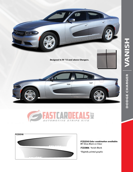 2018 Dodge Charger Side Graphic Stripes VANISH 2015-2021