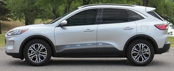 profile of NEW DESIGN! Ford Escape Stripes DEPART ROCKER 2020-2021