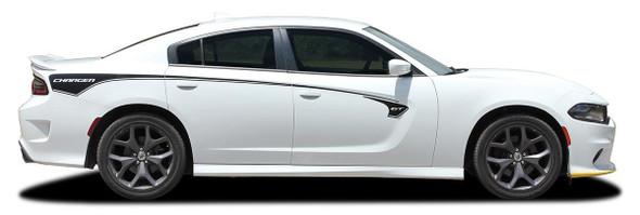 profile of 2015-2021 Dodge Charger Body Line Stripes RILED SIDE KIT