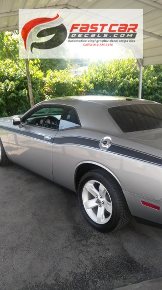 profile of 2017 Dodge Challenger Side Stripes CLASSIC TRACK 2008-2021