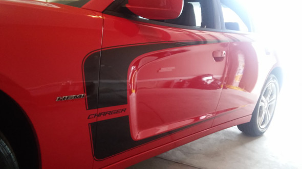 side of 2013 Dodge Charger Decals Body Kit C STRIPE 2011-2014