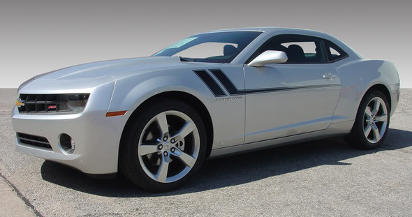 passenger front BEST! 2009-2015 Chevy Camaro Mid Body Side Stripes TRACK