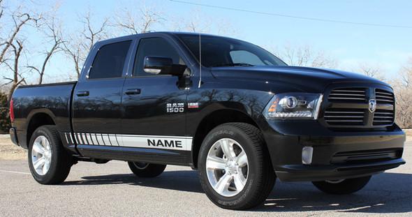 front angle of 2017 Ram Truck Stripes RAM ROCKER STROBE 2009-2018