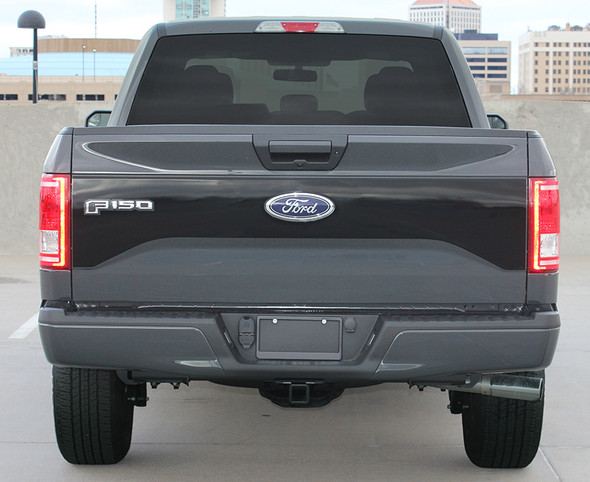 Rear of 2016 Ford F150 Tailgate Decal ROUTE TAILGATE 2015-2016 2017