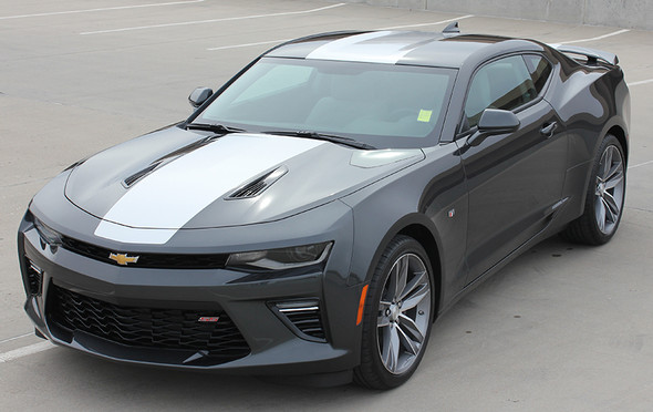 front left view Chevy Camaro Wide Center Graphics OVERDRIVE 2016 2017 2018