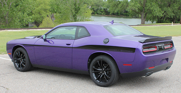 rear angle 2018 Dodge Challenger Body Decals ROADLINE 2008-2021