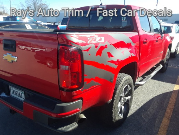 back corner view of 2020 Chevy Colorado Side Graphics ANTERO 2015-2021