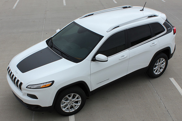 high angle of 2018 Jeep Cherokee Body Graphics WARRIOR 2014-2021