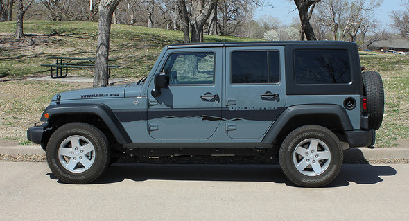 side view 2017 Jeep Wrangler Side Graphics TREK 2008-2018