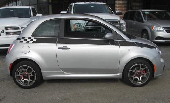 profile of Fiat 500 Custom Side Stripe Graphics SE5 CHECK 2012-2019
